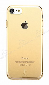 Baseus Simple Series iPhone 7 / 8 Şeffaf Gold Silikon Kılıf