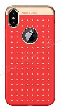Baseus Star Lighting iPhone X Kırmızı Silikon Kılıf