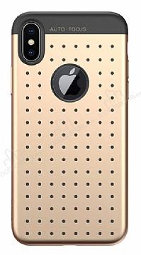 Baseus Star Lighting iPhone X Gold Silikon Kılıf
