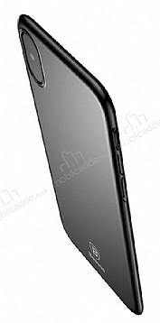 Baseus Thin iPhone X Tam Kenar Siyah Rubber Kılıf