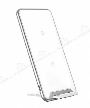 Baseus Three-Coil Beyaz Kablosuz Şarj Cihazı