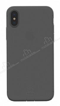 Baseus Simple iPhone X Siyah Silikon Kılıf