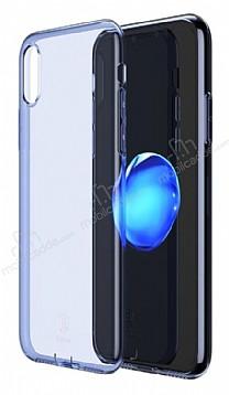 Baseus Simple iPhone X Mavi Silikon Kılıf
