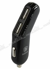 Baseus Smart Thin Fit Fashion Çift USB Girişli Siyah Araç Şarjı