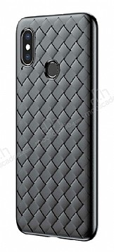 Baseus Weaving Xiaomi Mi 8 Siyah Silikon Kılıf