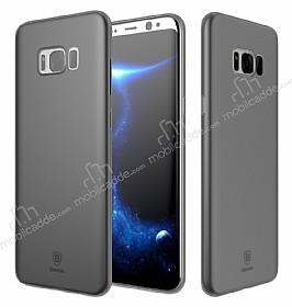 Baseus Wing Samsung Galaxy S8 Plus Ultra İnce Şeffaf Siyah Rubber Kılıf
