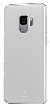 Baseus Wing Samsung Galaxy S9 Plus Ultra İnce Şeffaf Beyaz Rubber Kılıf