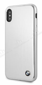 BMW iPhone X Alüminyum Silver Rubber Kılıf