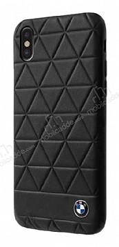 BMW iPhone X / XS Gerçek Deri Siyah Rubber Kılıf