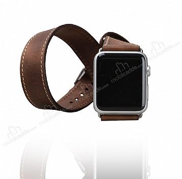 Bouletta Apple Watch Gerçek Deri Çift Tur Kordon G6 (42 mm)