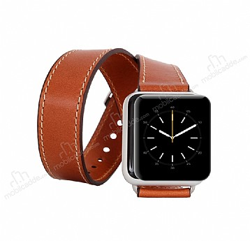 Bouletta Apple Watch Gerçek Deri Çift Tur Kordon RST2 (42 mm)