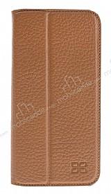 Bouletta Book Klug iPhone 7 Standlı Kapaklı Floater Tan Gerçek Deri Kılıf