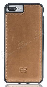 Bouletta Flex Cover iPhone 7 Plus / 8 Plus RST2EF Gerçek Kahverengi Deri Kılıf