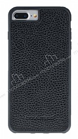 Bouletta Flex Cover iPhone 7 Plus / 8 Plus Floater Black Gerçek Deri Kılıf