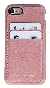 Bouletta Full Cover CC iPhone 7 / 8 Kartlıklı Floater Açık Pembe Gerçek Deri Kılıf