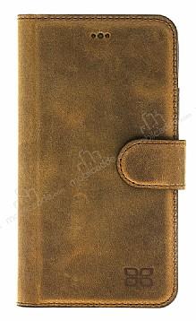 Bouletta Magic Wallet iPhone X / XS V5EF Kahverengi Gerçek Deri Kılıf