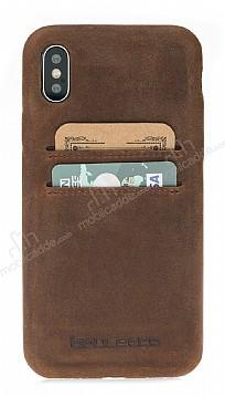 Bouletta Ultra Cover iPhone X G2 Kahverengi Gerçek Deri Kılıf
