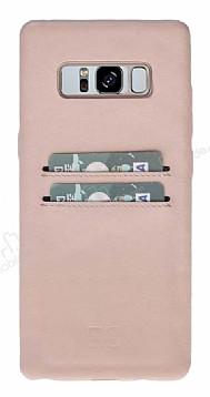 Bouletta Ultra Cover Samsung Galaxy S8 Pembe Kahverengi Gerçek Deri Kılıf
