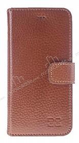 Bouletta Wallet ID iPhone 6 / 6S Standlı Kapaklı Açık Kahverengi Gerçek Deri Kılıf
