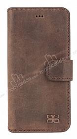 Bouletta Wallet ID iPhone 6 / 6S Standlı Kapaklı Kahverengi Gerçek Deri Kılıf
