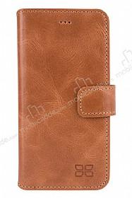 Bouletta Wallet ID iPhone 6 Plus / 6S Plus Standlı Kapaklı Açık Kahverengi Gerçek Deri Kılıf