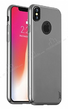 Buff Slim Fit iPhone X Ultra Koruma Silver Kılıf