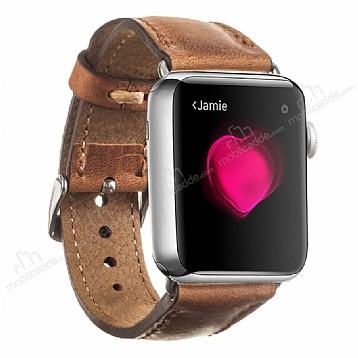 Burkley Apple Watch G8 Kahverengi Gerçek Deri Kordon (42 mm)