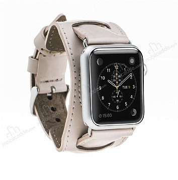 Burkley Apple Watch Pembe Gerçek Deri Kordon (38 mm)