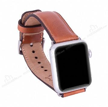 Burkley Apple Watch RST2 Kahverengi Gerçek Deri Kordon (38 mm)