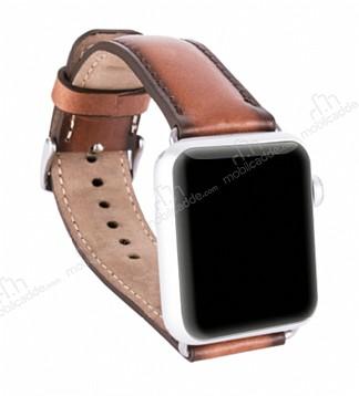 Burkley Apple Watch RST2EF Kahverengi Gerçek Deri Kordon (38 mm)