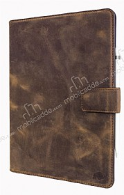 Burkley Cover Wallet Folio Apple iPad Pro 9.7 Antique Coffee Gerçek Deri Kılıf