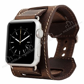 Burkley Cuff Apple Watch Antique Coffee Ger�ek Deri Kordon (42 mm)