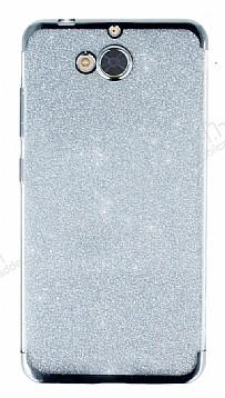 Casper Via A1 Simli Silver Silikon Kılıf