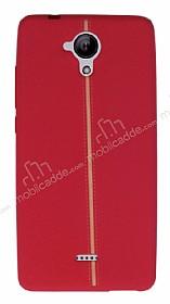 Casper Via E1 Kadife Dokulu Kırmızı Silikon Kılıf