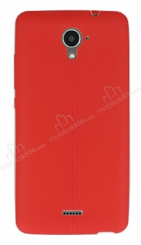 Casper Via E2 Deri Desenli Ultra İnce Kırmızı Silikon Kılıf