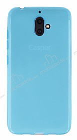 Casper Via F1 Ultra İnce Şeffaf Mavi Silikon Kılıf