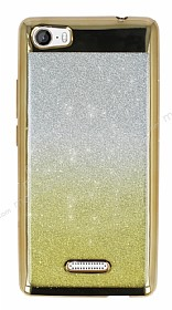 Casper Via M1 Simli Parlak Gold Silikon Kılıf