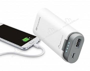 Cellular Line 5200 mAh 2017 Powerbank Beyaz Yedek Batarya
