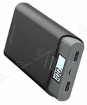 Cellular Line FreePower Ultra 10000 mAh Powerbank Siyah Yedek Batarya