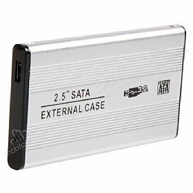 Cortrea 2.5 inç USB 3.0 Taşınabilir Sata Harddisk Kutusu Gümüş
