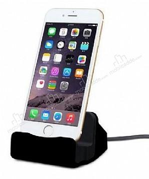 Cortrea iPhone 6 Plus / 6S Plus Lightning Masaüstü Dock Siyah Şarj Aleti