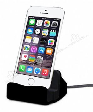 Cortrea iPhone SE / 5 / 5S Lightning Masaüstü Dock Siyah Şarj Aleti