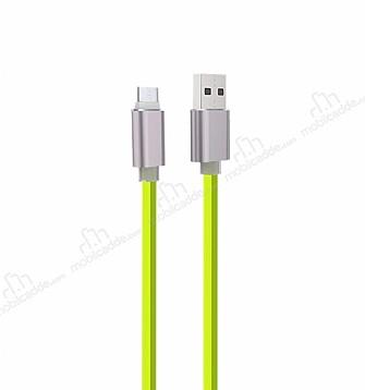 Cortrea Karanlıkta Parlayan Yeşil Micro USB Data Kablosu 1m