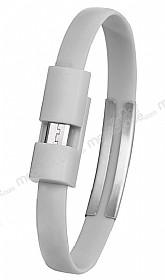 Cortrea Micro USB Bileklik Gri Kısa Data Kablosu 21cm