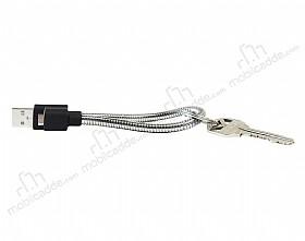 Cortrea Micro USB Katlanabilir Metal Kısa Data Kablosu 14cm
