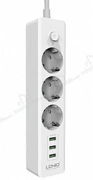 Cortrea Multi Plug 3lü Priz ve 3lü USB Port 2m