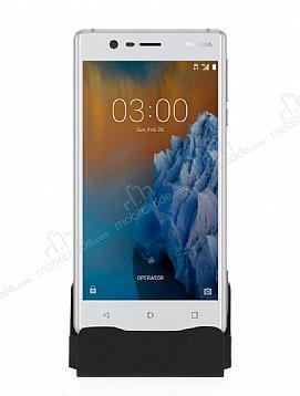 Cortrea Nokia 3 Micro USB Masaüstü Dock Siyah Şarj Aleti