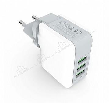 Cortrea Power Up Yüksek Kapasiteli 4 USB Port Çoklu Ev Şarj Adaptörü
