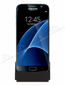 Cortrea Samsung Galaxy S7 Edge Micro USB Masaüstü Dock Siyah Şarj Aleti