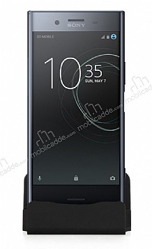Cortrea Sony Xperia XZ Premium Type-C Masaüstü Dock Siyah Şarj Aleti